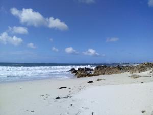 Wellen an weißem Sandstrand
